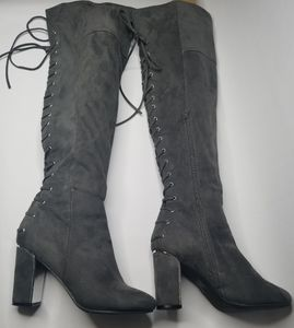 Over the knee BOOTS SEXY CONVERTABLE SHOES SIZE 9